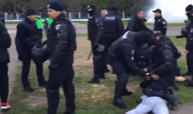После матча против Вереса произошла потасовка болельщиков Волыни с полицией