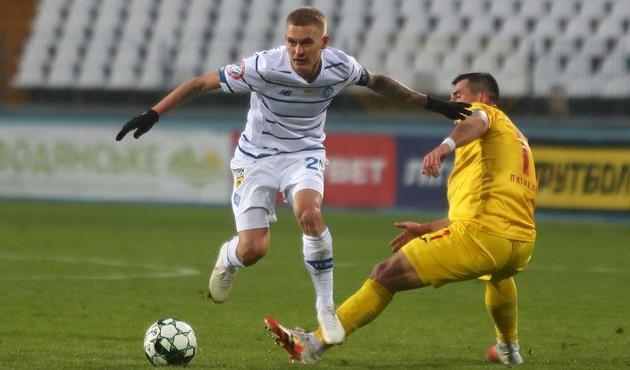 Виталий Буяльский в матче против Ингульца, фото ФК Динамо Киев