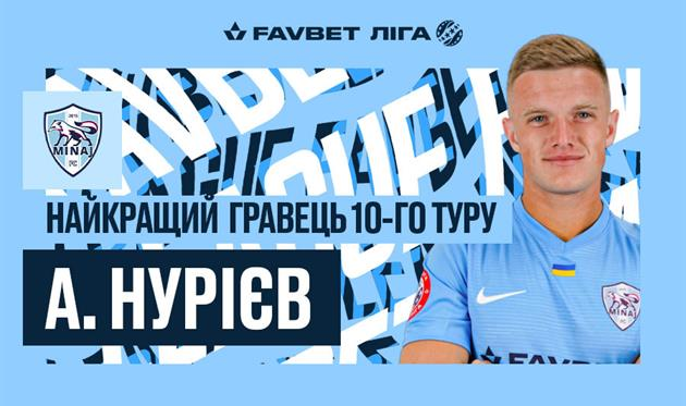 Нуриев обошел Гармаша и стал лучшим игроком 10-го тура УПЛ