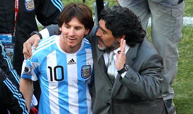 Лионель Месси и Диего Марадона, Getty images