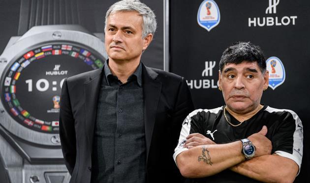 Жозе Моуриньо и Диего Марадона, Getty Images