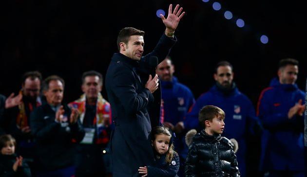 Габи на церемонии прощания с Атлетико, Getty Images