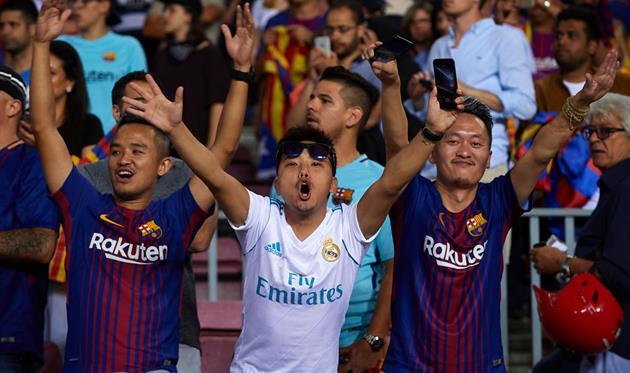 фото с матча суперкубка Реал - Барселона