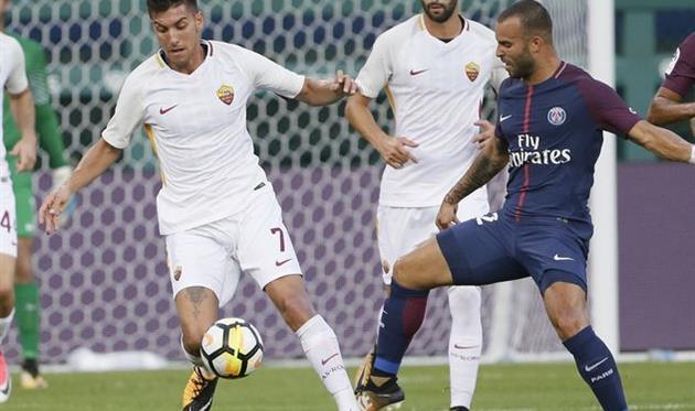 Хесе Родригес (справа) в матче против Ромы, Getty Images