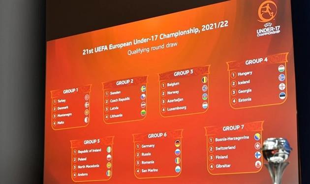 Состоялась жеребьевка квалификационного раунда чемпионата Европы среди сборных U-17 и U-19