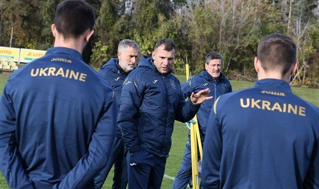 Тренерский штаб сборной Украины, Getty Images