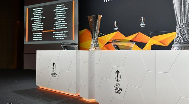 Зал для проведения жеребьевки, twitter.com/EuropaLeague