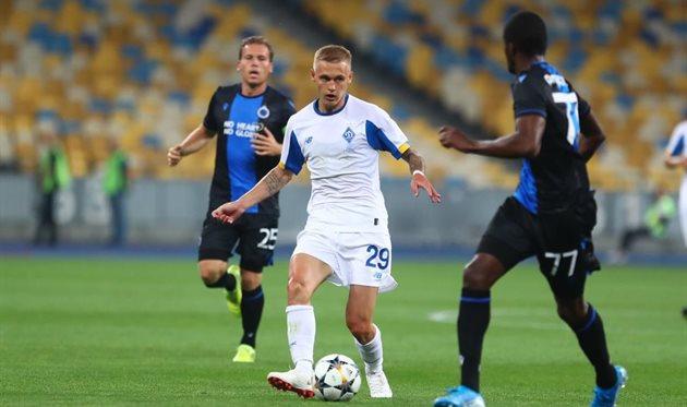 Виталий Буяльский против Брюгге, фото ФК Динамо