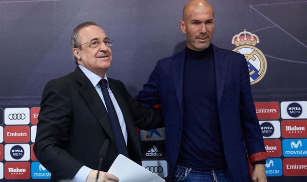 Флорентино Перес (слева) и Зинедин Зидан, Getty Images