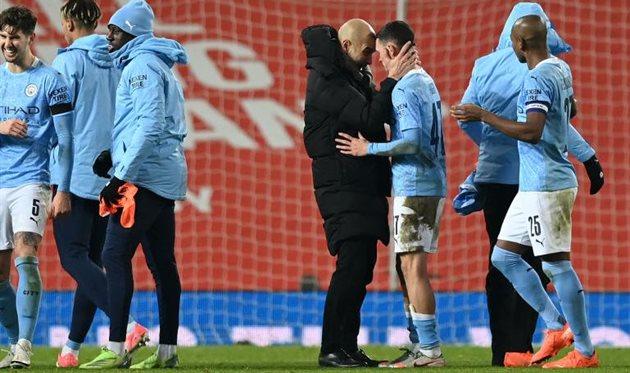 Хосеп Гвардиола и игроки Манчестер Сити, Getty Images