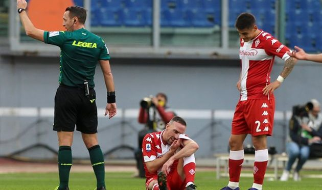 Франк Рибери во время матча против Лацио, Getty Images