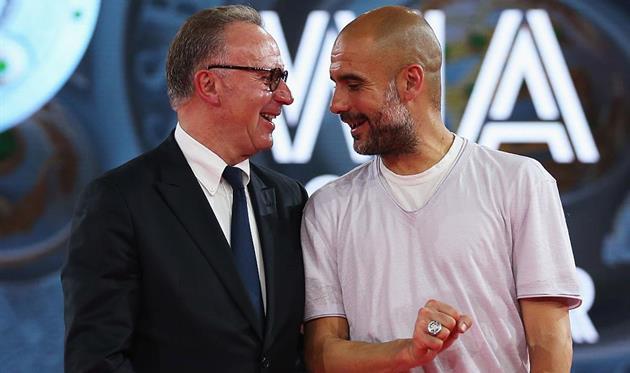 Карл-Хайнц Румменигге (слева) и Хосеп Гвардиола, Getty Images