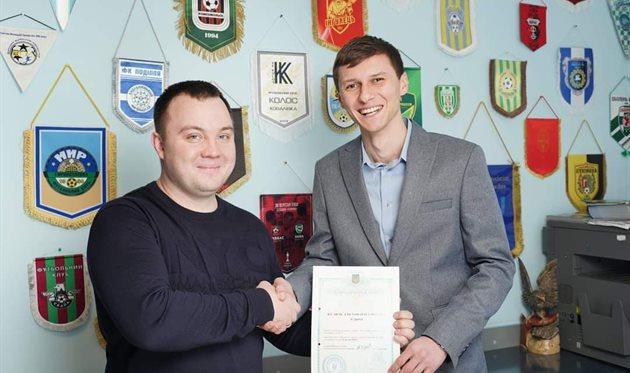 Артур Загорулько (справа), ФК Нива
