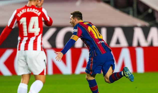 Барселона - Атлетик, твиттер Барселоны