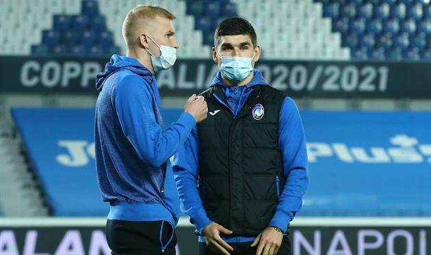 Виктор Коваленко и Руслан Малиновский, фото ФК Аталанта