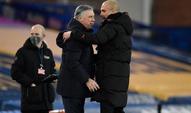 Карло Анчелотти (слева) и Хосеп Гвардиола, Getty Images