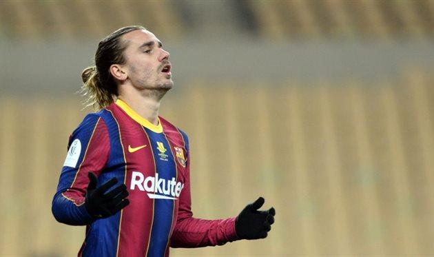 Гризманн остался в запасе на матч Барселоны против Эльче