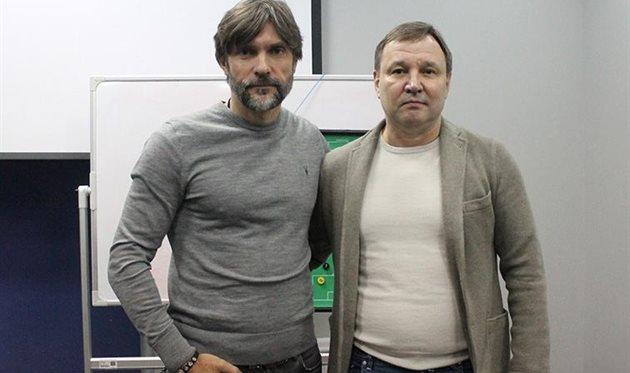 Юрий Калитвинцев (справа), ФК Олимпик