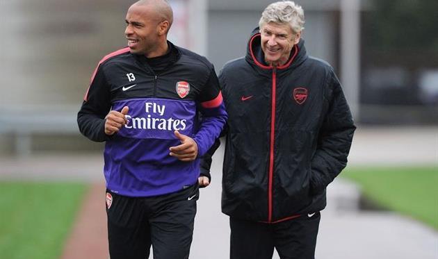 Тьери Анри (слева) и Арсен Венгер, Football London