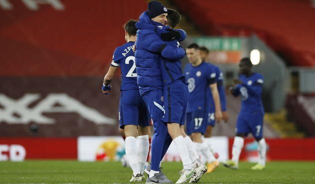 Празднование победы над Ливерпулем от Жоржиньо и Томаса Тухеля, Getty Images