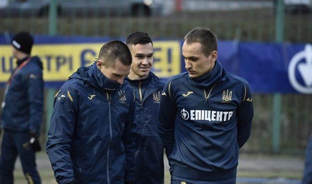 Сборная Украины провела первую тренировку в 2021 году