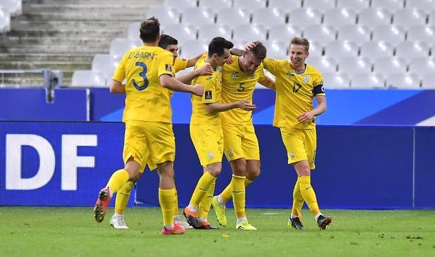Сборная Украины в матче против Франции, Getty Images