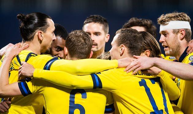 Футболисты сборной Швеции, фото Федерация футбола Швеции