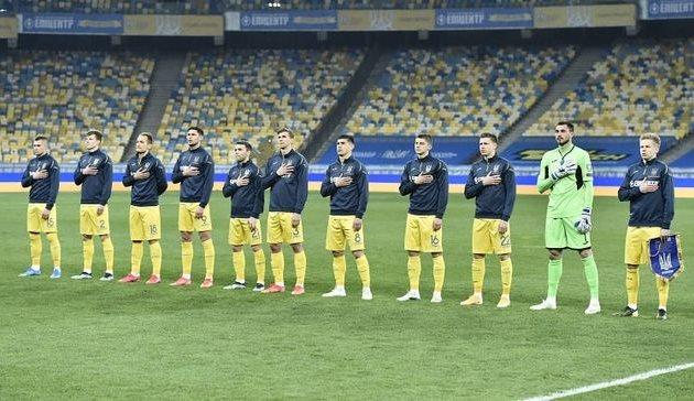 Сборная Украины перед матчем против Финляндии, фото УАФ