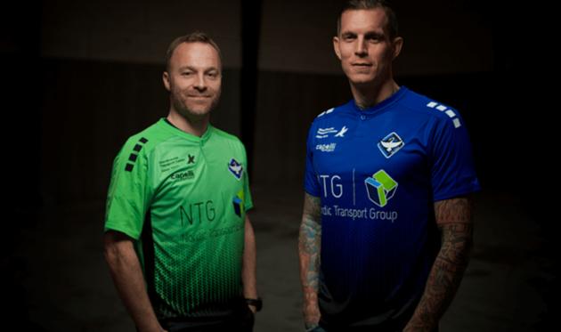 Даниэль Аггер (справа) и Ларс Якобсен, фото ФК Кеге