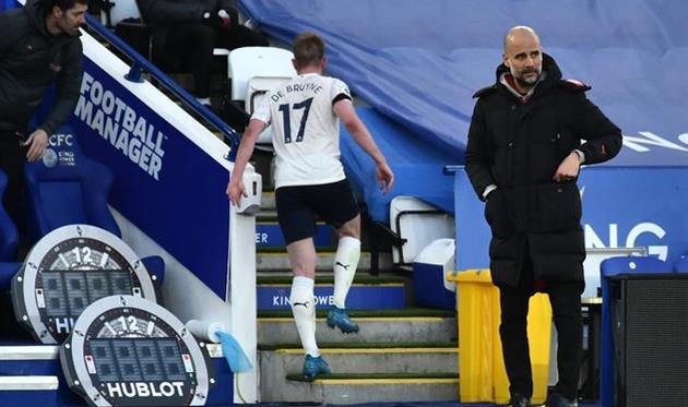 Хосеп Гвардиола в матче против Лестера, Getty Images