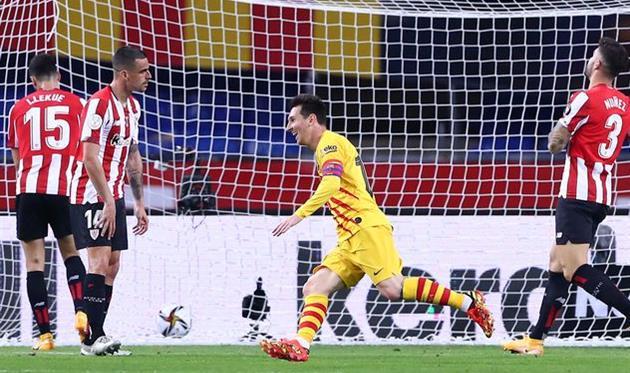 Лионель Месси в матче против Атлетика, Getty Images