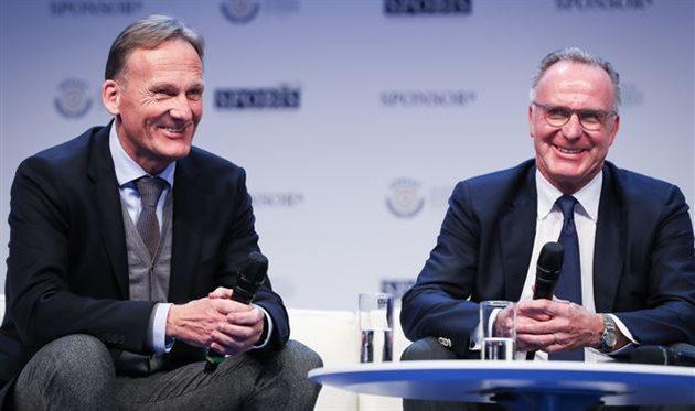 Ханса-Йоахима Вацке (слева) и Карл-Хайнц Румменигге, Getty Images