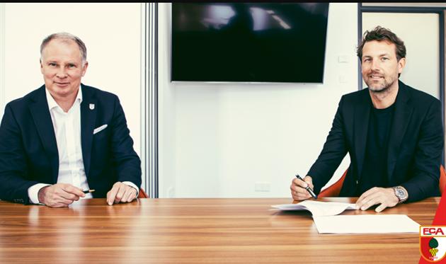 Маркус Вайнцирль (справа), фото ФК Аугсбург