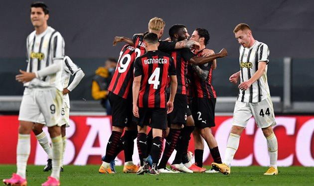 Милан обыграл Ювентус, Getty Images