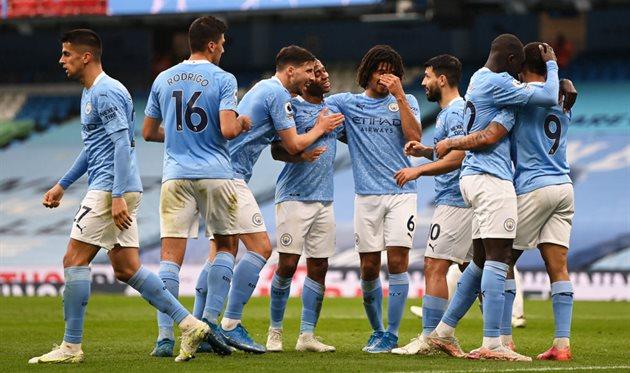Игроки Манчестер Сити, фото getty images