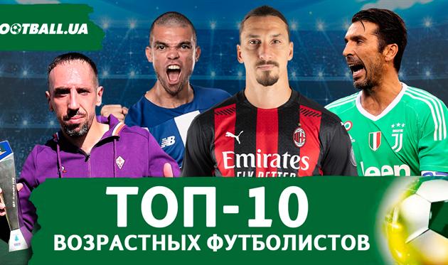 ТОП-10 возрастных футболистов мира