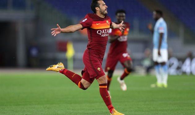 Педро в матче против Лацио, Getty Images