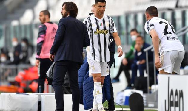 Момент с заменой Криштиану Роналду в матче против Интера, Getty Images