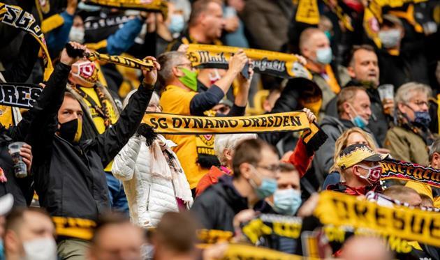 Фанаты Динамо Дрезден