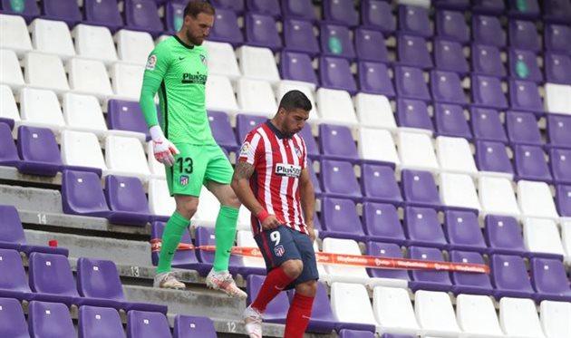 Ян Облак в перерыве матча против Вальядолида, Getty Images