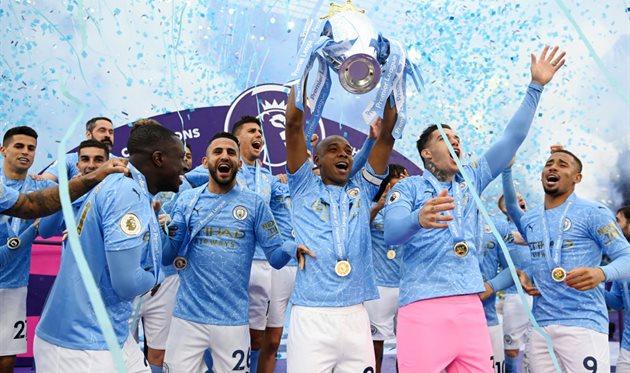 Манчестер Сити - чемпион Англии-2020/21, getty images