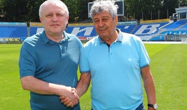 Игорь Суркис (слева) и Мирча Луческу, ФК Динамо