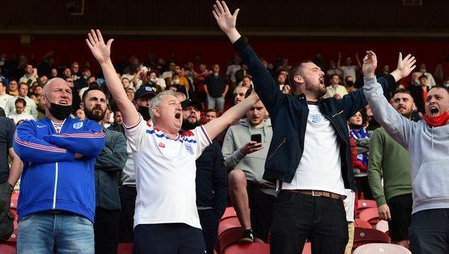 Фанаты сборной Англии в матче против Австрии, Getty Images