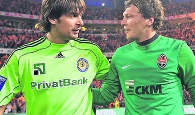 Александр Шовковский (слева) и Андрей Пятов, ФК Шахтер