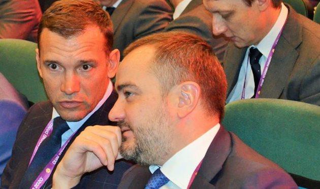 Андрей Шевченко и Андрей Павелко, УАФ