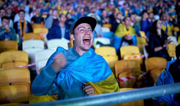 Євро-2020: 10 тисяч українців підтримали національну збірну на Олімпійському