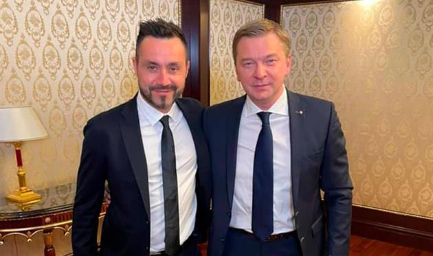 Роберто Де Дзерби (слева) и Сергей Палкин, ФК Шахтер