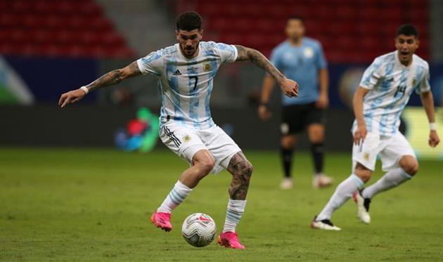 Родриго Де Пауль в составе сборной Аргентины, Getty Images