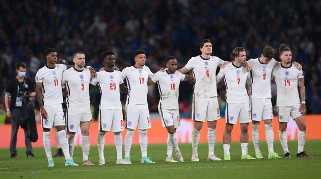 Сборная Англии в матче против Италии, Getty Images