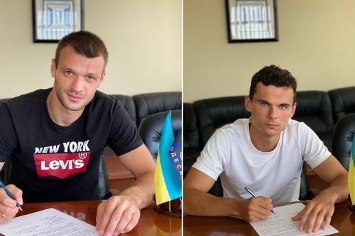Алексей Паламарчук и Илья Путря. Фото ФК Черноморец